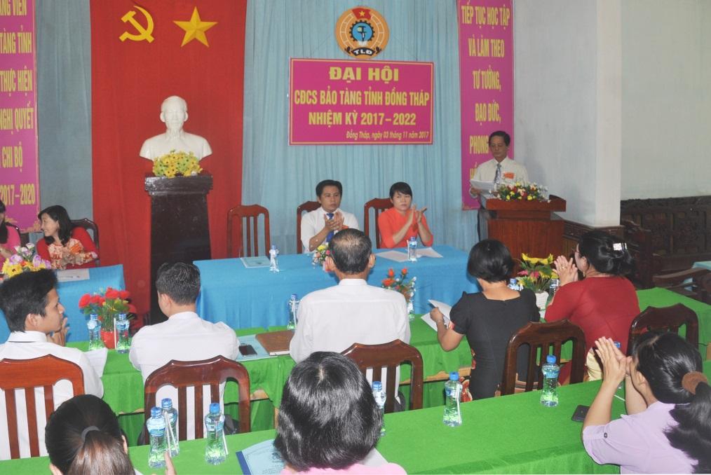 Quang cảnh Đại hội CĐCS Bảo tàng nhiệm kỳ 2017-2022